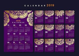 Mandala-Kalender-Modell