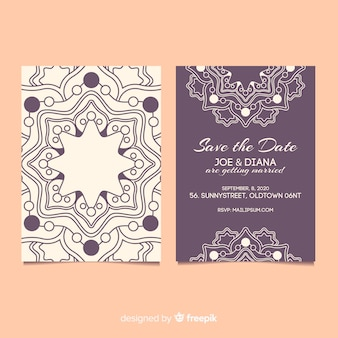 Mandala-konzept einladung