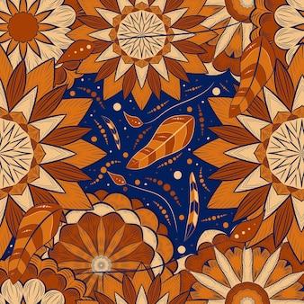 Mandala-kunstdekoration mit abstraktem muster