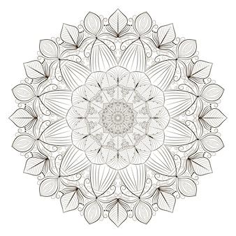 Mandala-linien-kunstkonzept