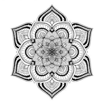 Mandala malbuch, orientalische therapie yoga gekritzel