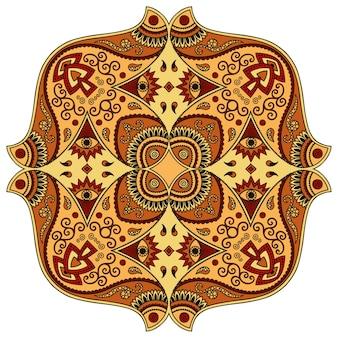 Mandala, mehndi. dekorative verzierung im ethnisch orientalischen stil.
