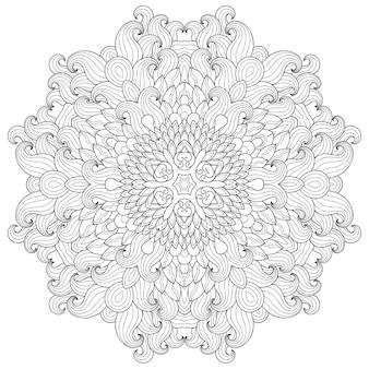 Mandala mit blume, mehndi. dekorative verzierung im ethnischen stil.