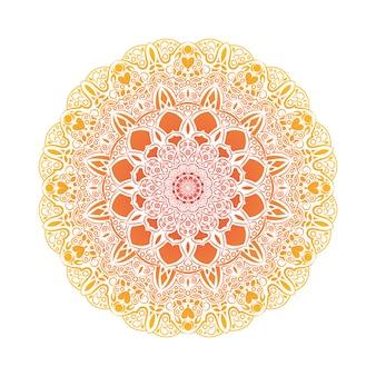 Mandala mit kreisförmigem farbverlauf