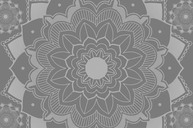 Mandala-muster auf grauem hintergrund