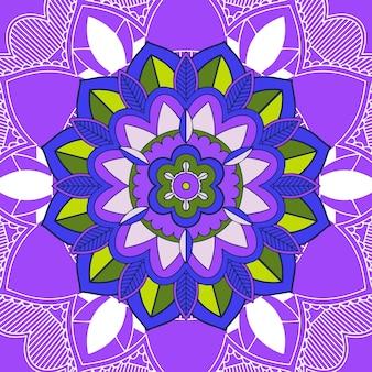 Mandala-muster auf lila hintergrund