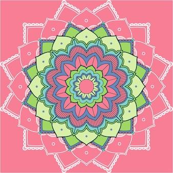 Mandala-muster auf rosa hintergrund