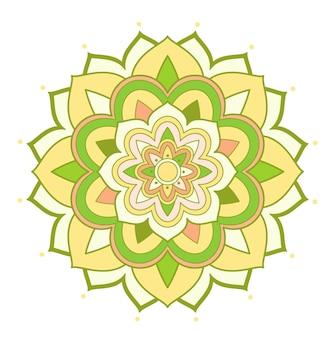 Mandala-muster auf weißem hintergrund
