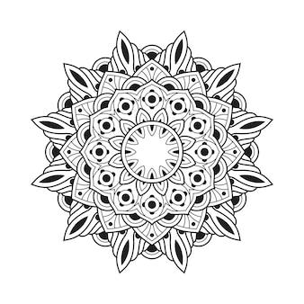 Mandala muster erwachsenen malbuch