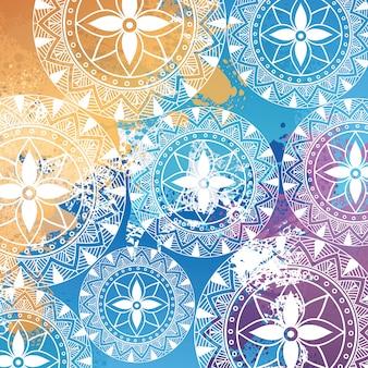 Mandala-muster hintergrund