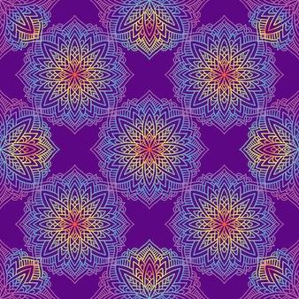 Mandala-muster mit indischen motiven.