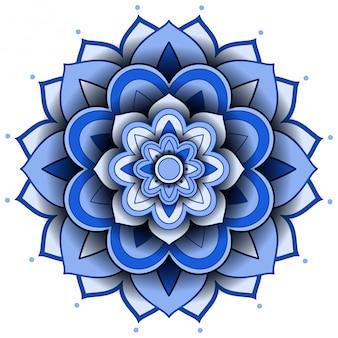 Mandala musterentwurf auf weißem hintergrund
