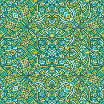 Mandala nahtlose hintergrundmuster. stammes-ornament.