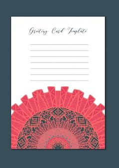 Mandala orientalische vorlage karte