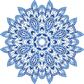Mandala ornament, aquarellelement.