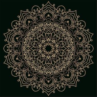 Mandala ornament oder blumenhintergrund.