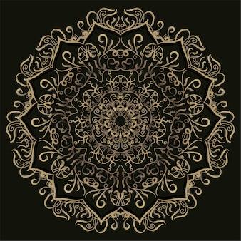 Mandala ornament oder blumenhintergrundentwurf.