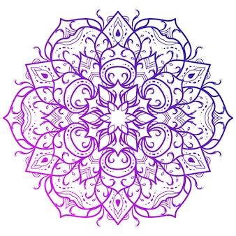 Mandala ornament oder blumenmuster