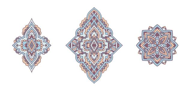 Mandala ornament. vintage dekorative elemente. handgezeichnete arabische motive.