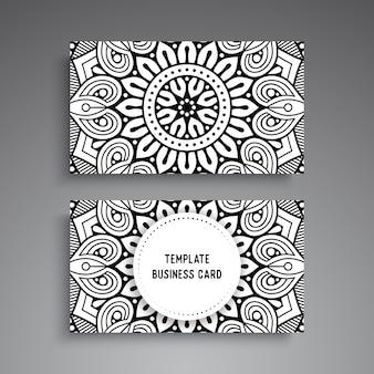 Mandala ornamentale visitenkartenvorlage