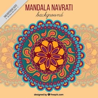 Mandala ornamentalen hintergrund von navratri