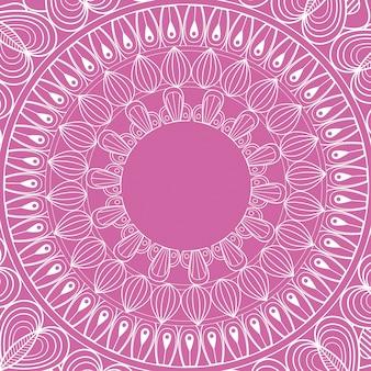 Mandala-rituale geistiger klassischer rosa hintergrund