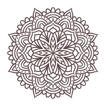 Mandala runde ornament-muster. dekoratives muster im orientalischen stil. vintage dekorative elemente