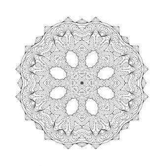 Mandala runde verzierung.