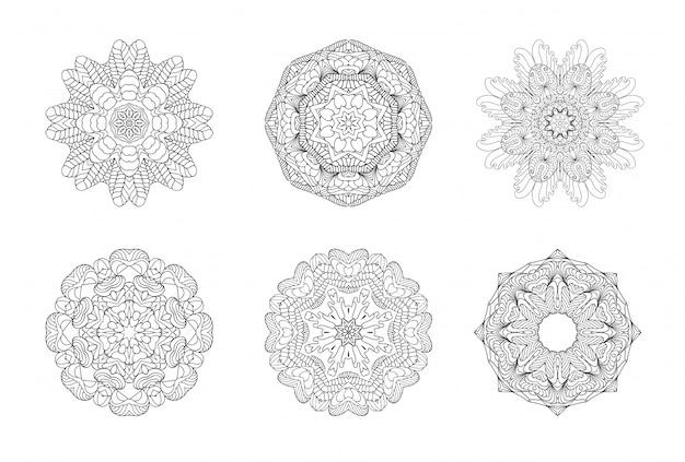 Mandala. runde verzierung.