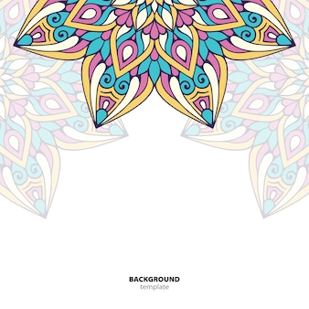 Mandala. rundes ornamentmuster. ethnischer orientalischer hintergrund