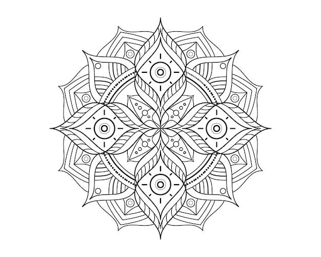 Mandala schönheit ornament vektor icon illustration design