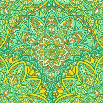 Mandala seamless-mustervektordesign für den druck. stammes-ornament.