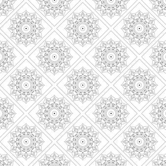 Mandala seamless pattern hintergrund