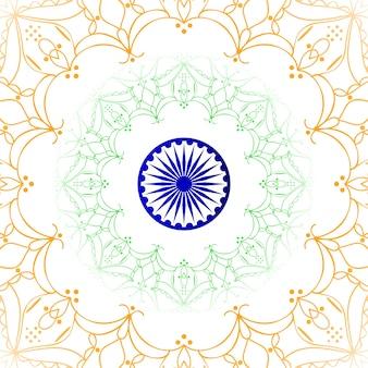 Mandala stil indischen flagge thema hintergrund