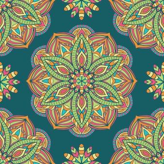 Mandala-vektor-design für den druck. stammes-ornament.