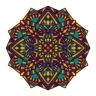 Mandala-vektor-design zum drucken.