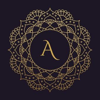 Mandala-vektor-logo / symbol abbildung