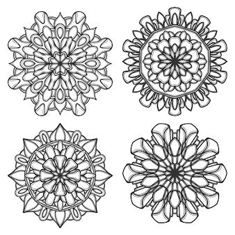 Mandala-vektor-logo-symbol-illustration