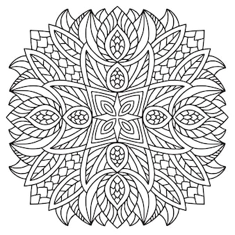 Mandala-vektor. malbuchseite
