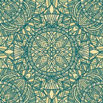 Mandala vektor nahtlose muster. stammes-ornament.