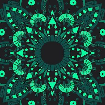 Mandala-verzierung.