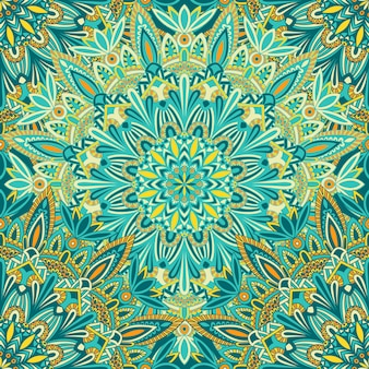 Mandala vintage design für den druck. stammes-ornament.