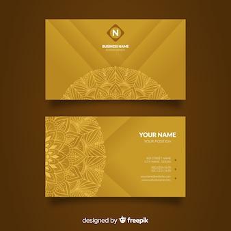 Mandala-visitenkarte-konzept
