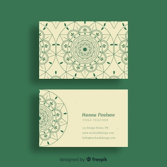 Mandala-visitenkarte vorlage