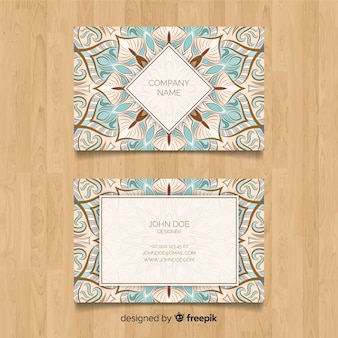 Mandala visitenkarte vorlage