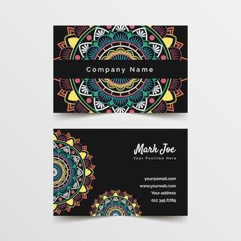 Mandala visitenkartenvorlage