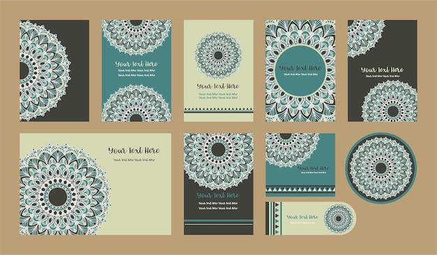 Mandala-weinlese-schablonen-karte