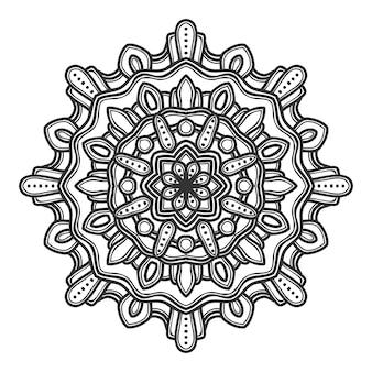 Mandalablumen-illustrationsvektordesign