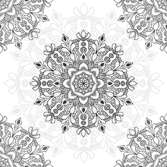 Mandalablumenillustration zu mehrfachem zweck