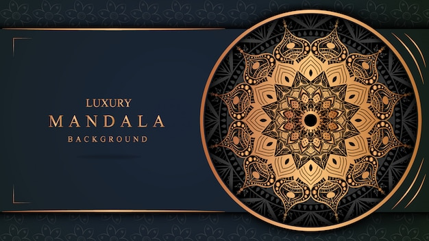 Mandaladekoration, arabisches oder indisches hintergrundluxusdesign
